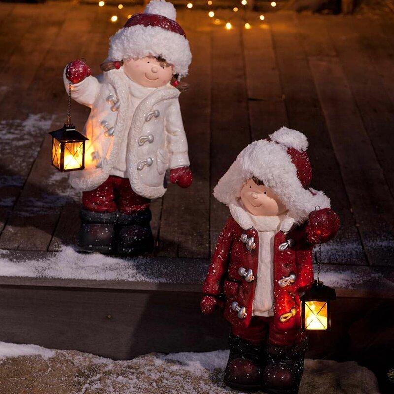 2 piece children with lanterns figurine set - Children Christmas Pictures 2