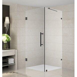 Aquadica 30 X 72 Hinged Frameless Shower Door