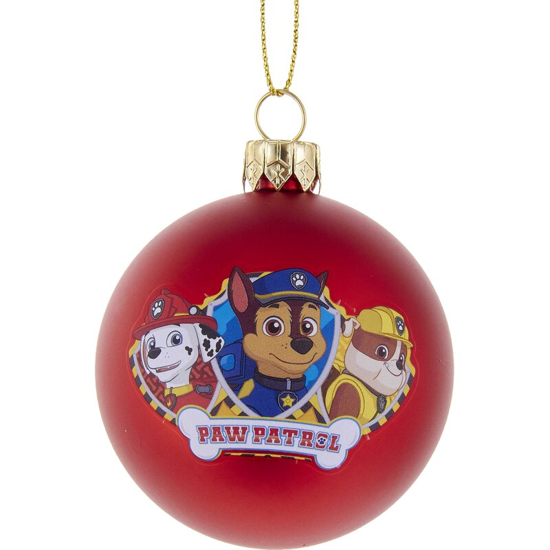 236 paw patrol shatterproof ball ornament