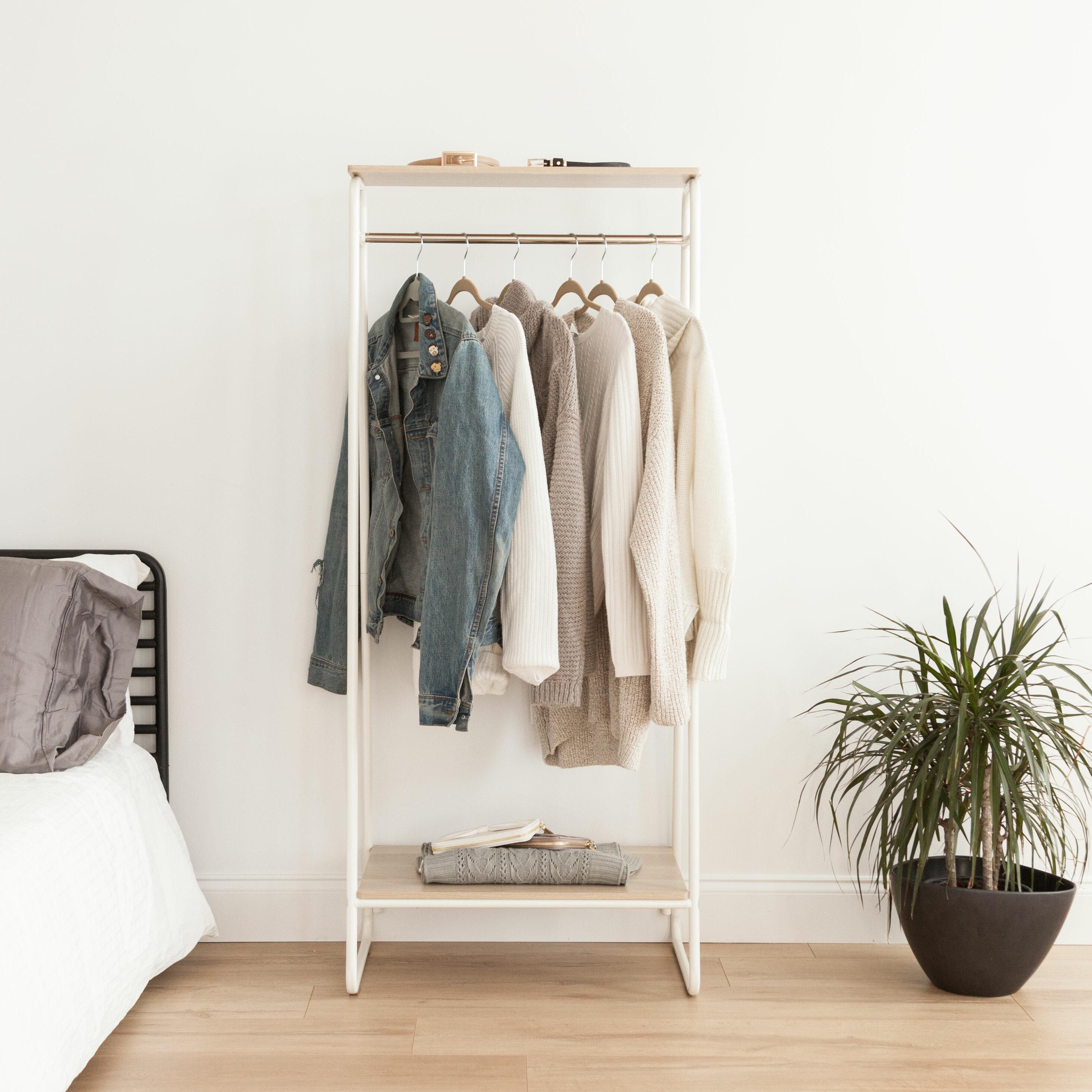 "IRIS 25 19"" W Garment Rack & Reviews"