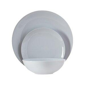 wayfair basics 12 piece porcelain dinnerware set service for 4