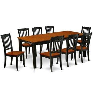 Kushner 9 Piece Extendable Solid Wood Dining Set