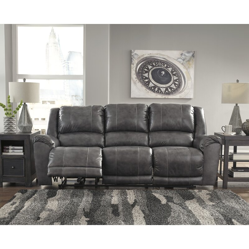 Darby Home Co Waterloo Leather Reclining Sofa & Reviews | Wayfair