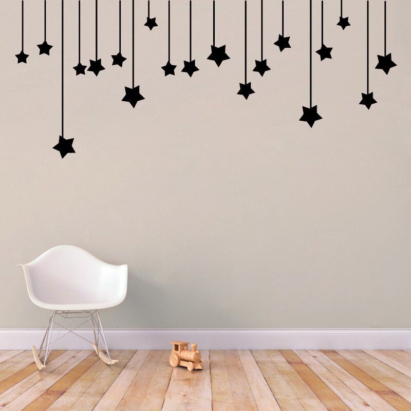 sweetumswalldecals hanging stars wall decal & reviews | wayfair