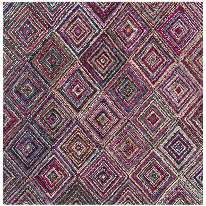 safavieh handgetufteter teppich rowley in rosa gr n bewertungen. Black Bedroom Furniture Sets. Home Design Ideas