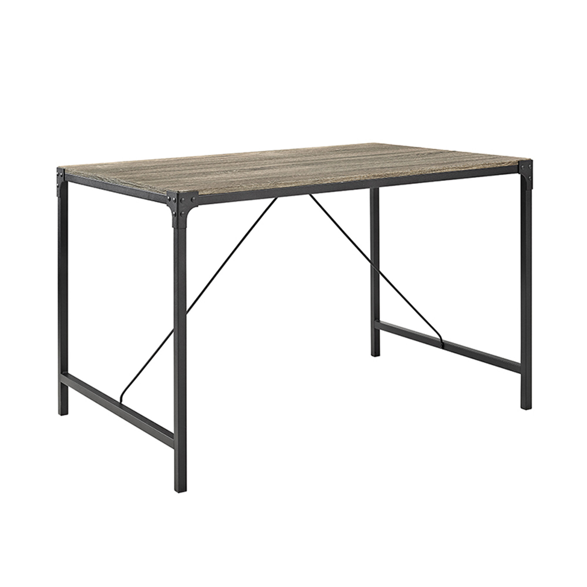 Laurel Foundry Madelyn Angle Iron And Wood Dining Table Reviews Wayfair Co Uk