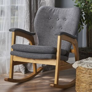 Saulsberry Fabric Rocking Chair by Brayden Studio