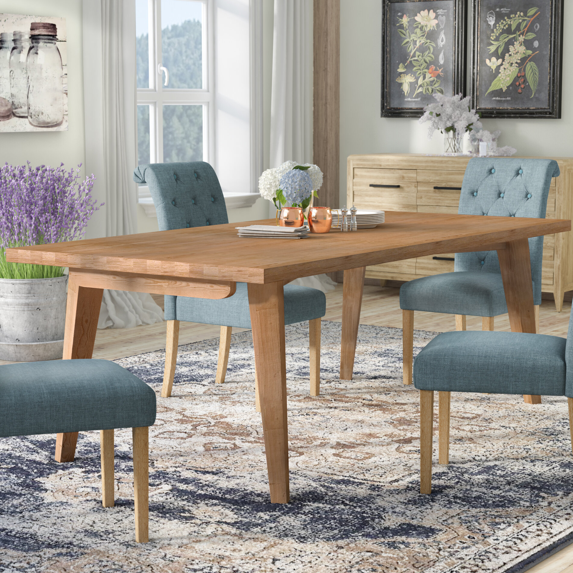 Laurel Foundry Modern Farmhouse Descartes Dining Table & Reviews -