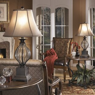 Farmhouse lamps birch lane ontario 31 table lamp set of 2 aloadofball Gallery