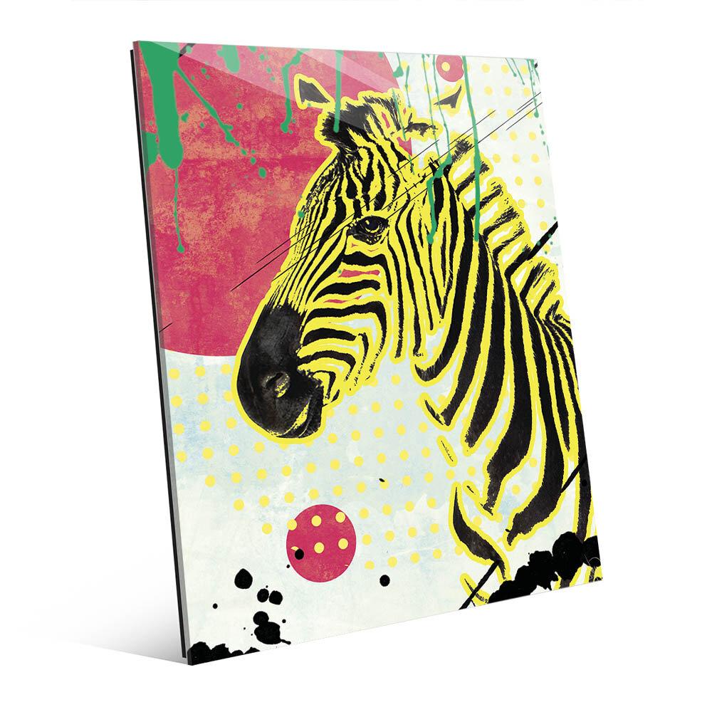 Click Wall Art \'The Serene Zebra\' Graphic Art on Plaque | Wayfair