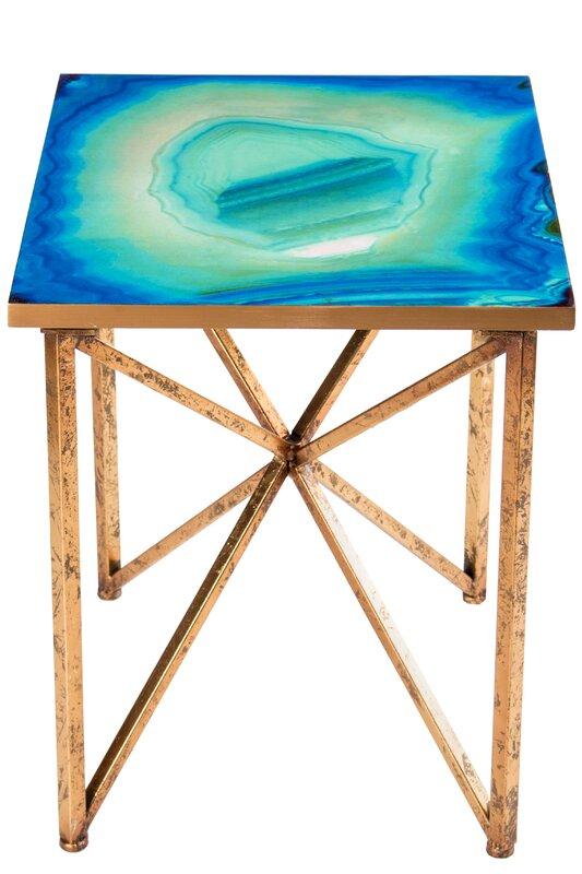 Bleu Agate End Table