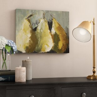 Modern Pears Painting Print On Wred Canvas