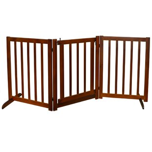 Little Pixie 3 Section Solid Wood Folding Pet Safety Gate by Viv   Rae