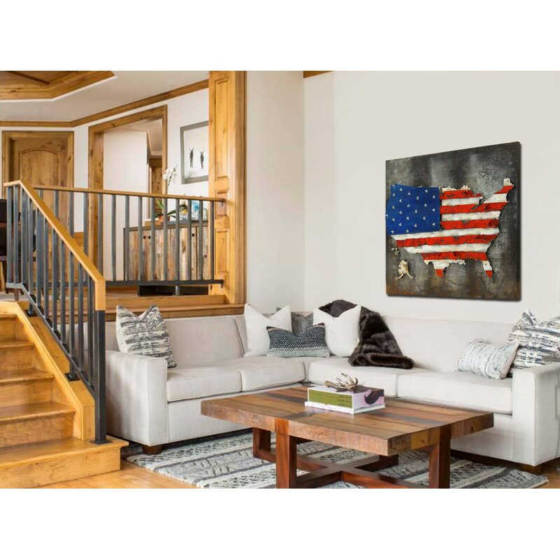3D US American Flag Wall Decor