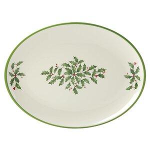 Holiday Melamine Oval Platter