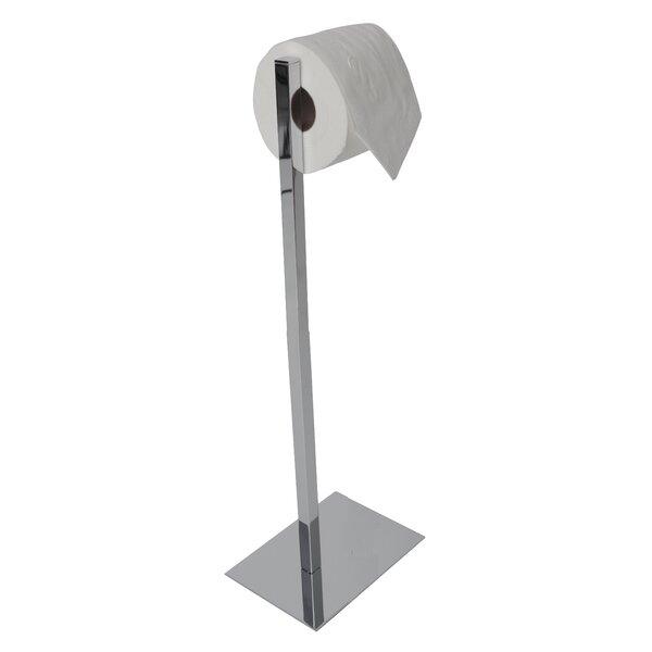essentials rectangular base toilet paper holder