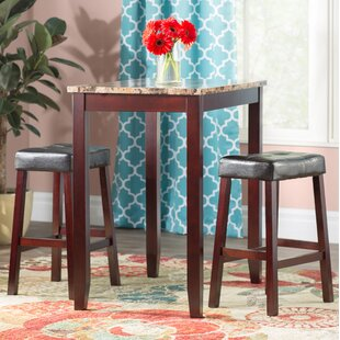 Attractive Daisy 3 Piece Counter Height Pub Table Set