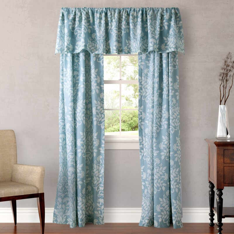 Laura Ashley Home Rowland Breeze Nature/Floral Semi-Sheer