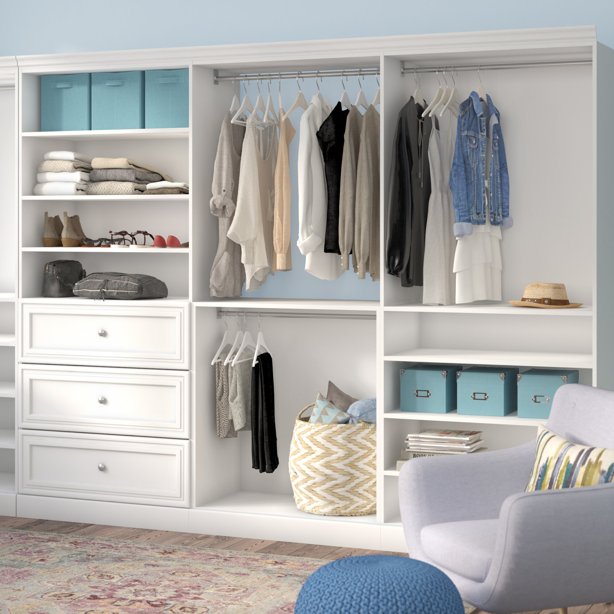 top homes closet closets white kit corner gardens by bestar tips decorating organizing drawers for better versatile inch in