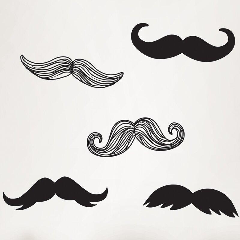 WallPops! Wall Art Kit Mustache Small Wall Decal | Wayfair