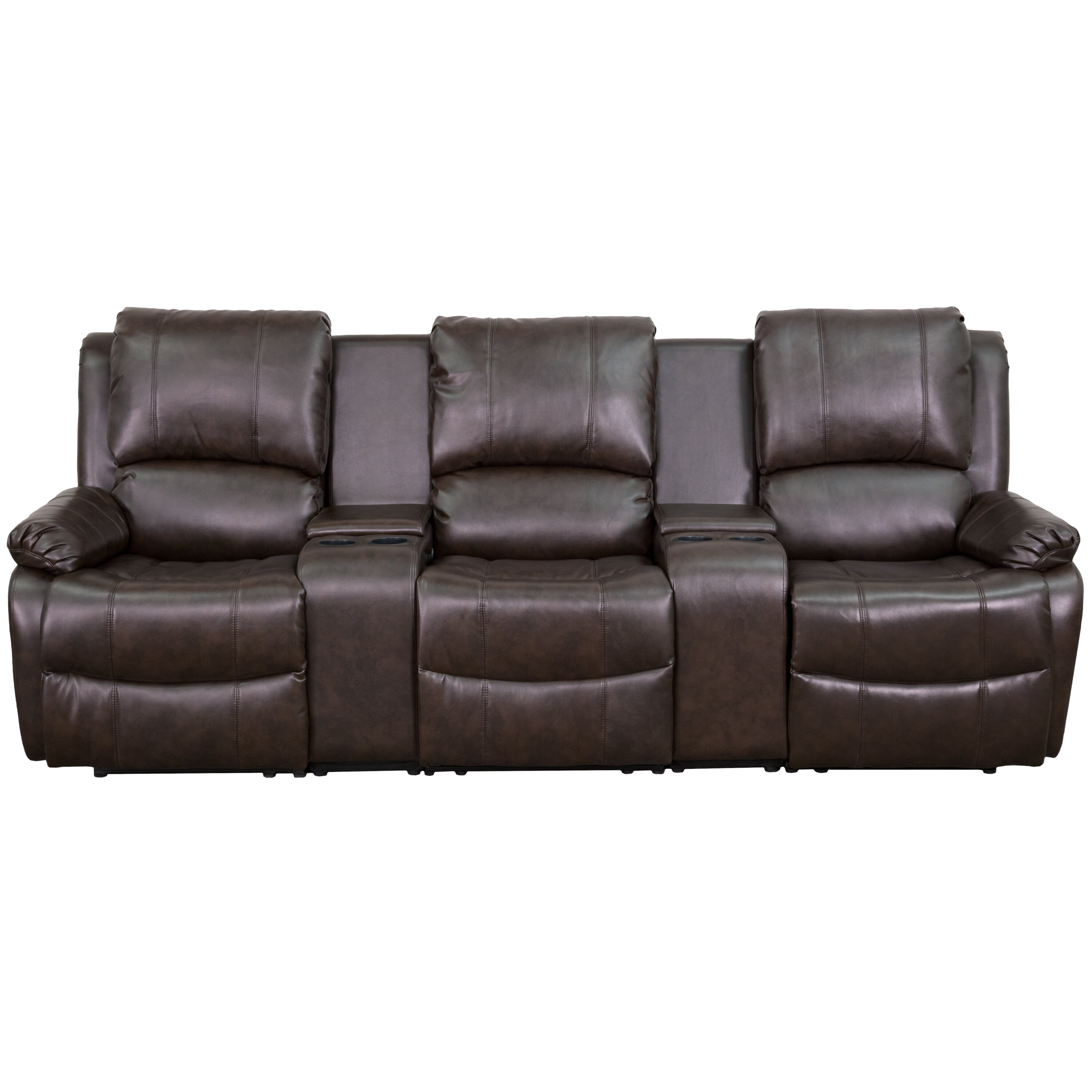 Red Barrel Studio Leather Home Theater Sofa & Reviews | Wayfair