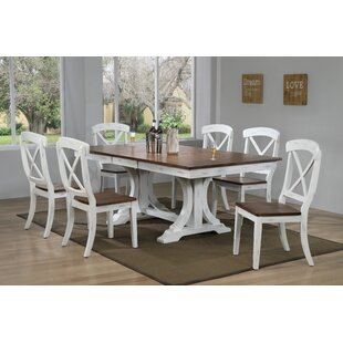 Debbra 7 Piece Extendable Solid Wood Dining Set
