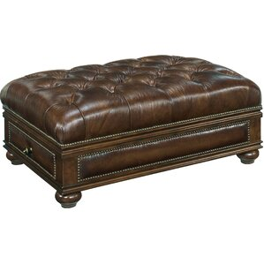 Leather Ottoman by Hooker ..