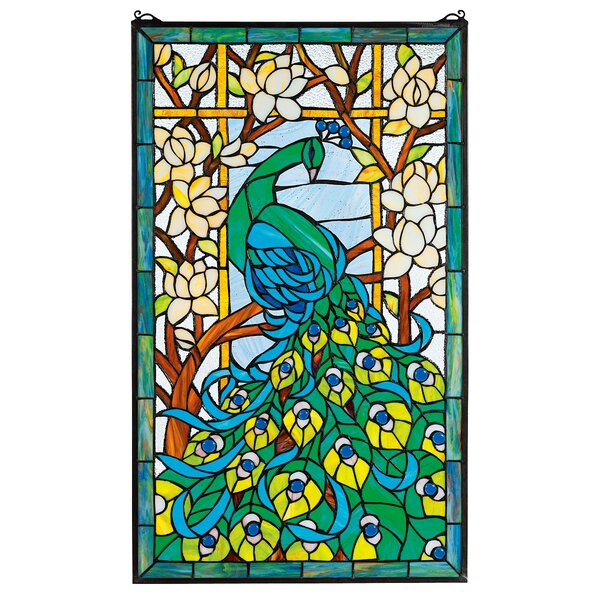 Design Toscano Pea S Paradise Stained Gl Window Reviews Wayfair Ca