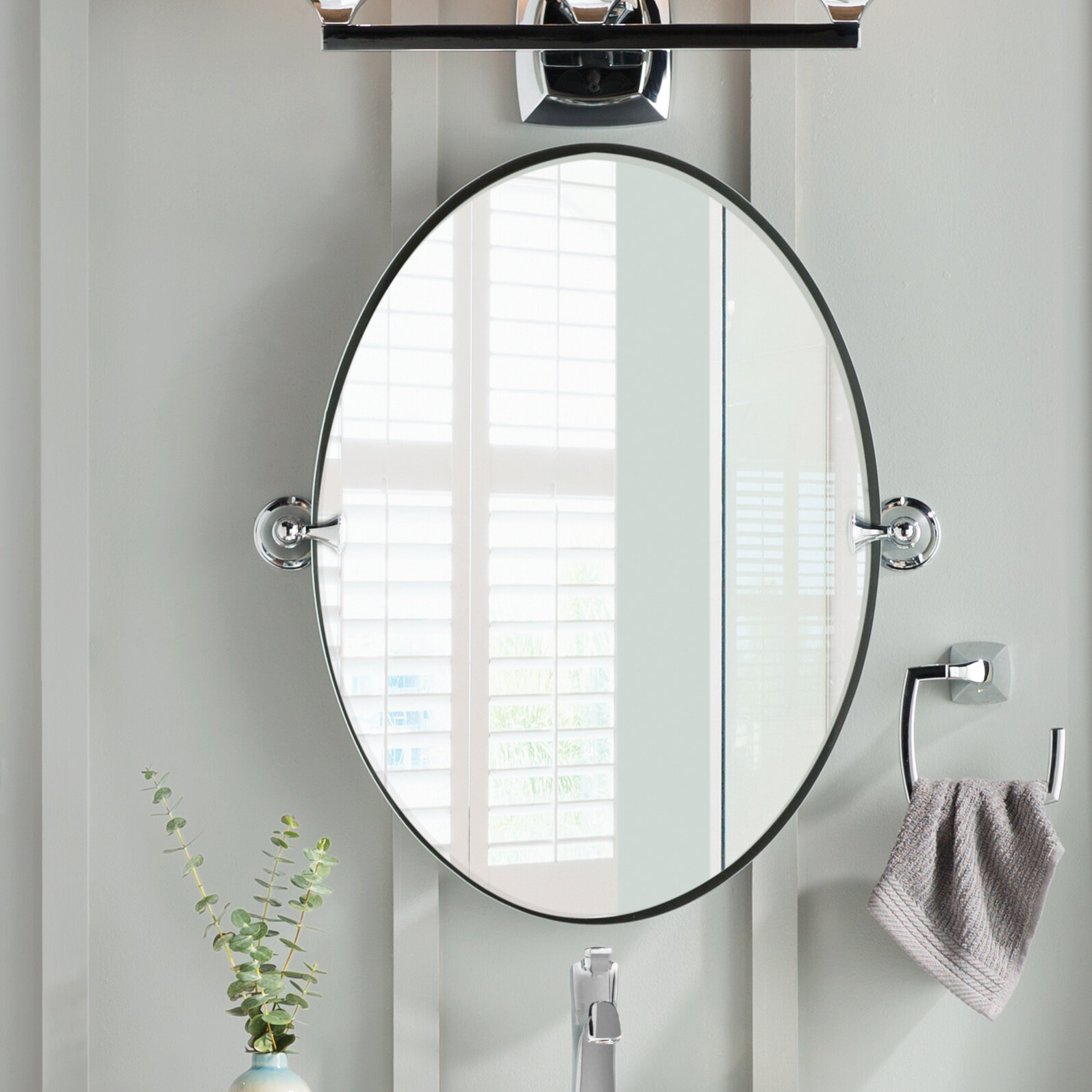 Moen Glenshire Wall Mirror & Reviews | Wayfair