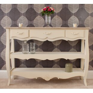 Albane 3 Drawer 2 Shelf Console Table ...