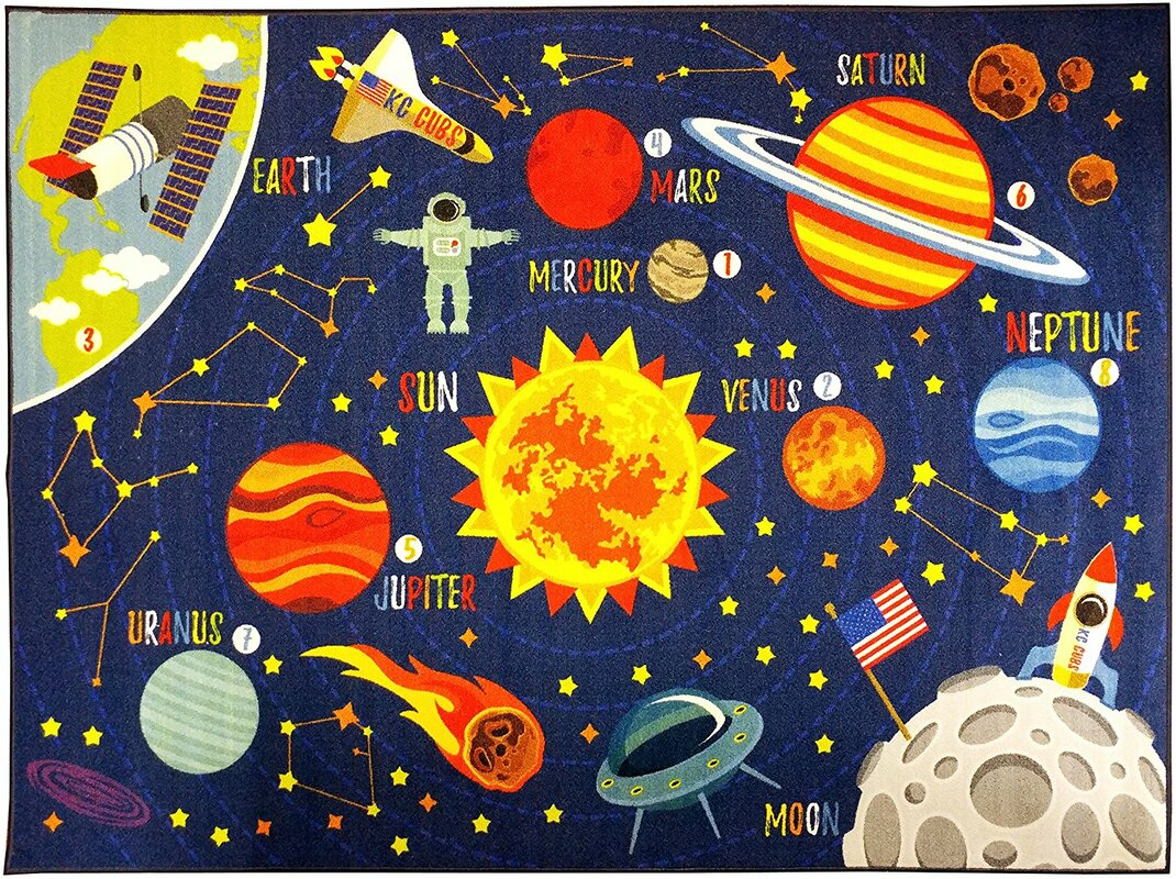 Zoomie kids weranna outer space safari road map for Outer space childrens decor