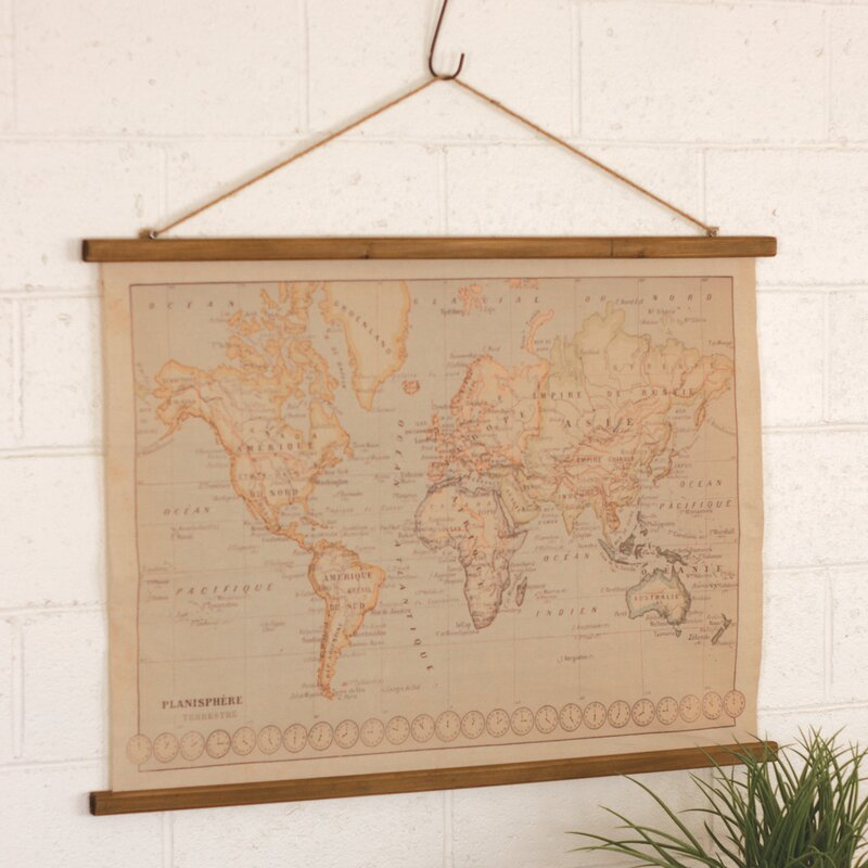 Canvas printed world map wall hanging reviews joss main canvas printed world map wall hanging gumiabroncs Gallery