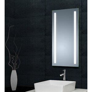 saxby omega led illuminated bathroom mirror with shelf and shaver socket. led back lit de mister bathroom mirror saxby omega led illuminated with shelf and shaver socket
