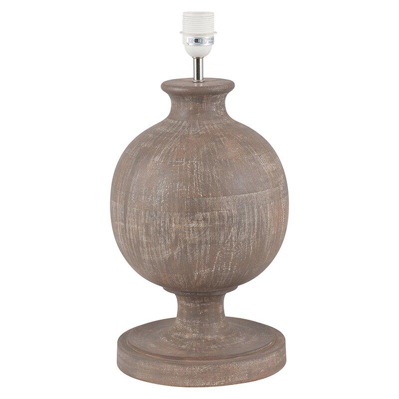 Catherine Rock Bulbous Wood Table Lamp Base