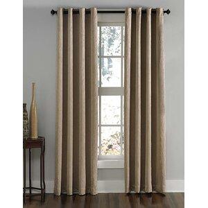Lenox Solid Room Darkening Grommet Single Curtain Panel