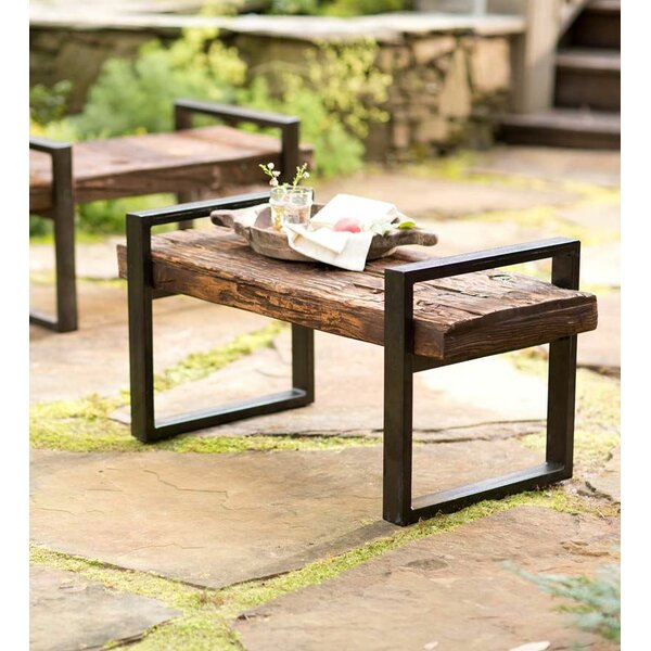 Hearth Bench: Plow & Hearth Reclaimed Wood And Iron Outdoor Garden Bench
