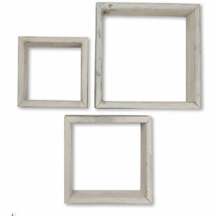 1e39dd5218c Parker Vintage Farmhouse Shadow Box 3 Piece Wall Shelf Set