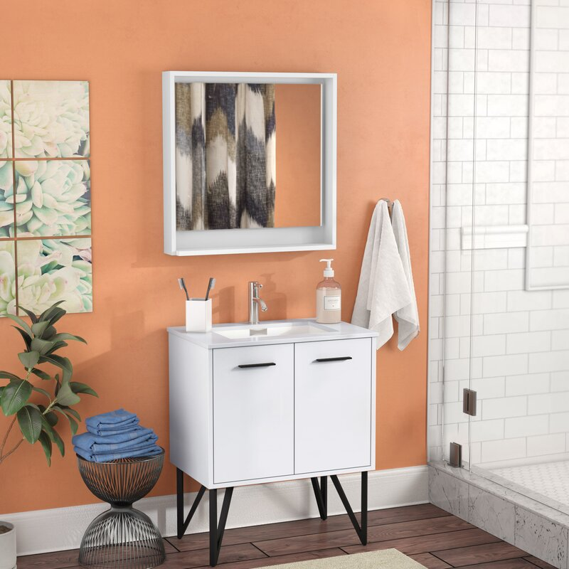 Almaraz 30 Single Bathroom Vanity Set With Mirror Reviews Allmodern