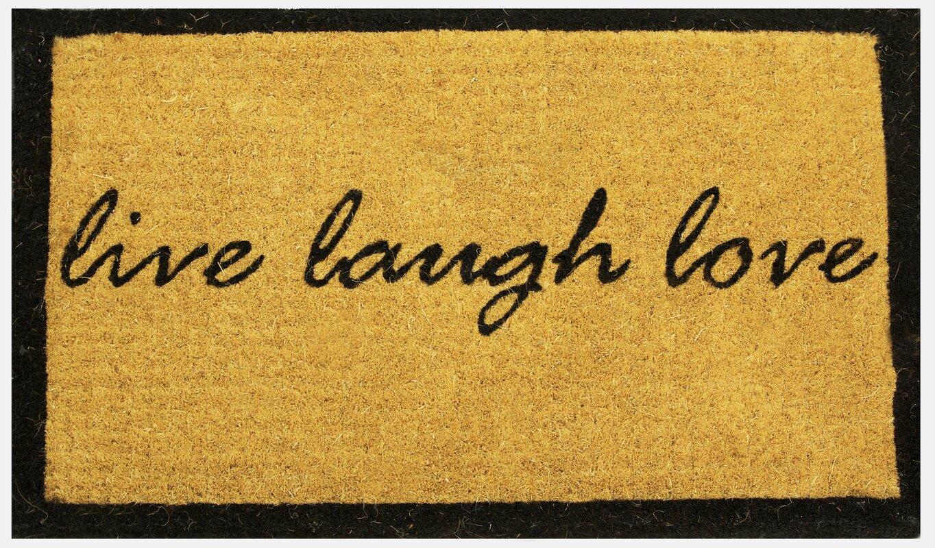 Decorating coir door mats pics : Estella Live Laugh Love Coco Coir Doormat & Reviews   Birch Lane