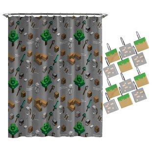 Minecraft Survive Shower Curtain