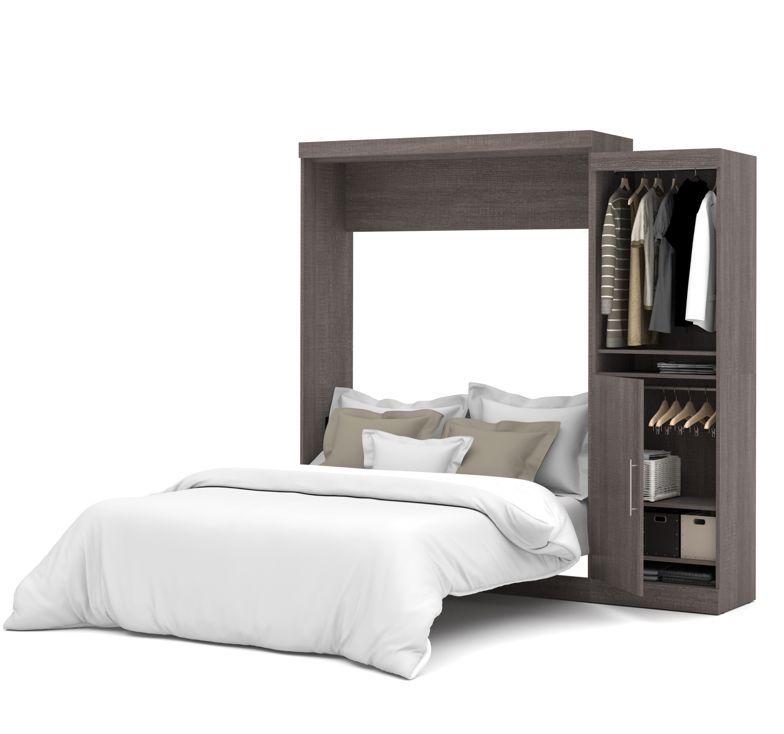 queen glossy category closed tilt space white solutions archives spacesolutionsweblog showroom display murphy single side bed
