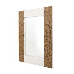 Nedmond Rectangle Brown Wall Mirror