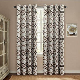 Mahaney Geometric Blackout Thermal Grommet Curtain Panels