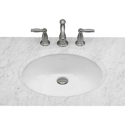 Undermount Bathroom Sink ronbow oval undermount bathroom sink with overflow & reviews | wayfair