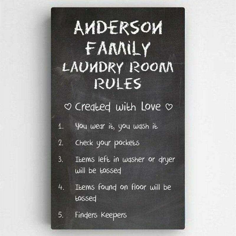 Laundry Art Enchanting Jds Personalized Gifts Personalized Laundry Room Rules Sign Decorating Design