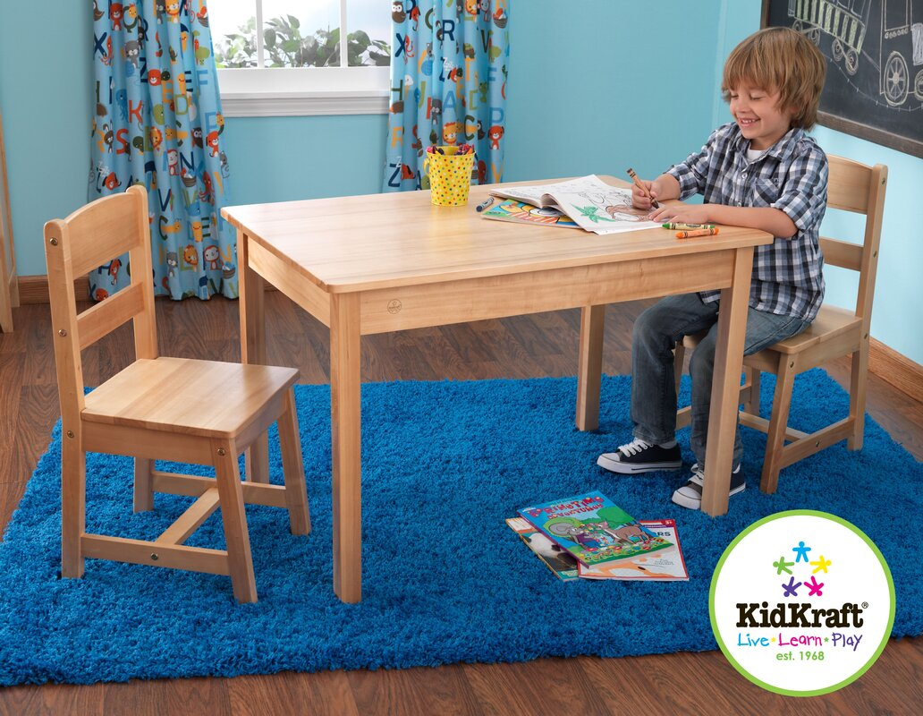 Kidkraft Kids 3 Piece Wood Table Amp Chair Set Amp Reviews