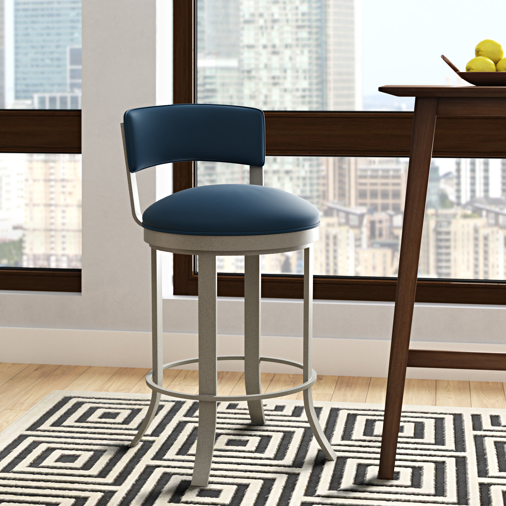 Brilliant Winslow Bar Counter Swivel Stool Unemploymentrelief Wooden Chair Designs For Living Room Unemploymentrelieforg