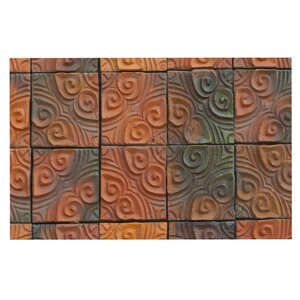 'Whimsy Tile' Rustic Decorative Doormat