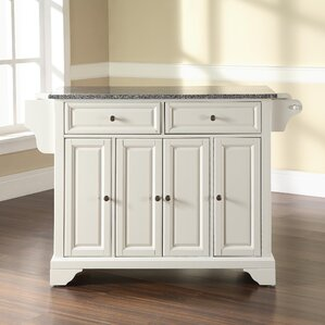 Abbate Kitchen Island with Granite Top..