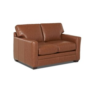 Carleton Leather Loveseat by Wayfair Custom Upholstery?